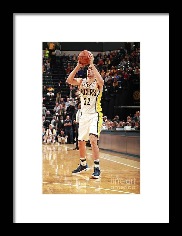 Nba Pro Basketball Framed Print featuring the photograph Georges Niang by Jeff Haynes