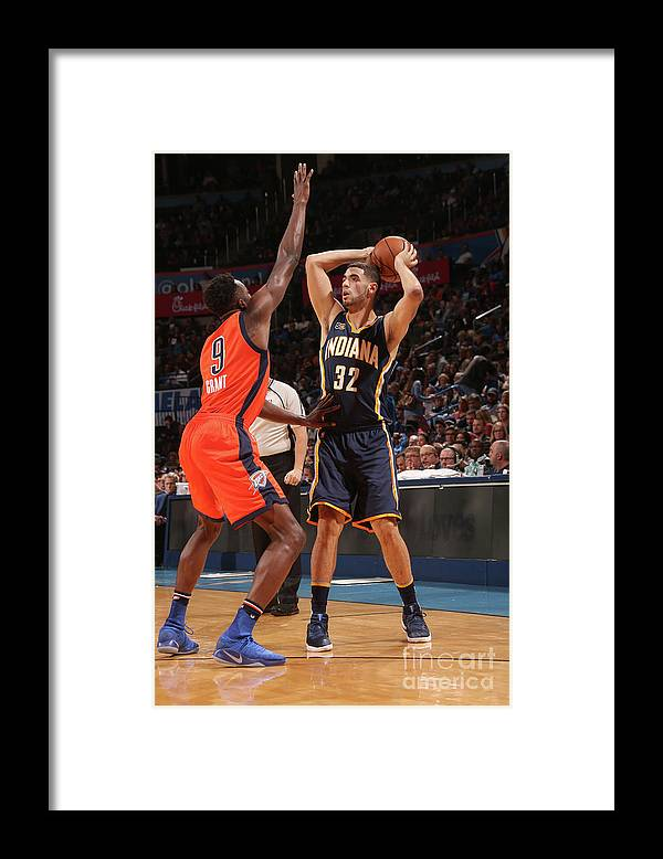 Nba Pro Basketball Framed Print featuring the photograph Georges Niang by Layne Murdoch