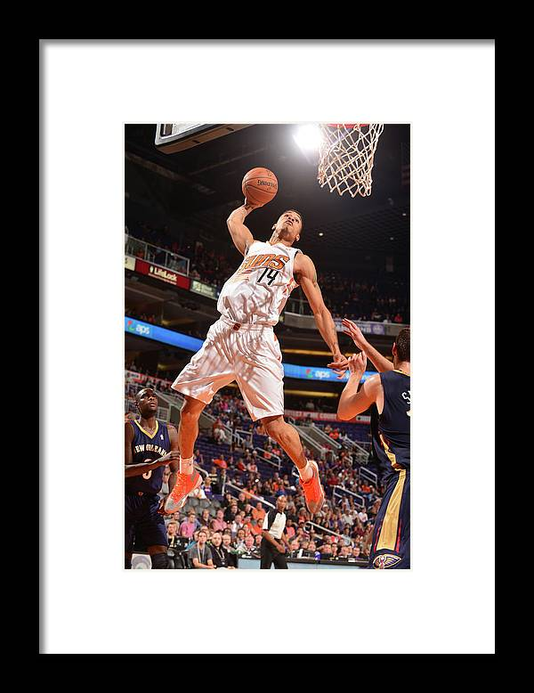 Nba Pro Basketball Framed Print featuring the photograph Gerald Green by Barry Gossage