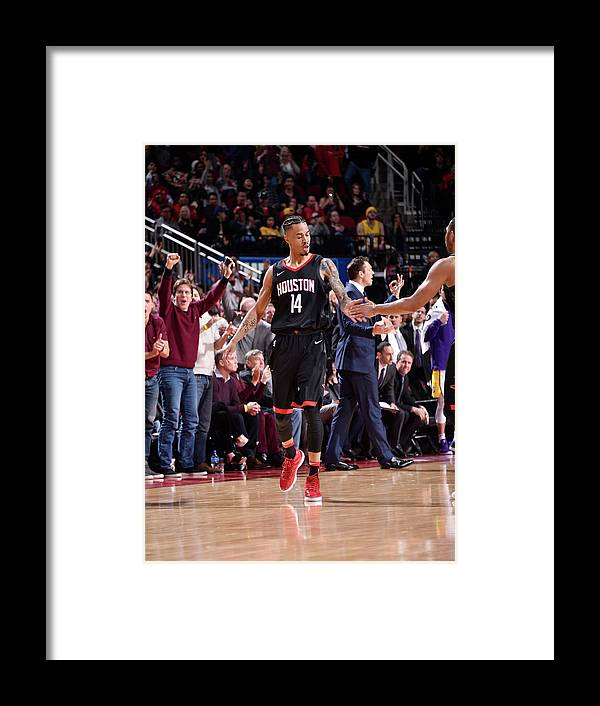 Nba Pro Basketball Framed Print featuring the photograph Gerald Green by Bill Baptist
