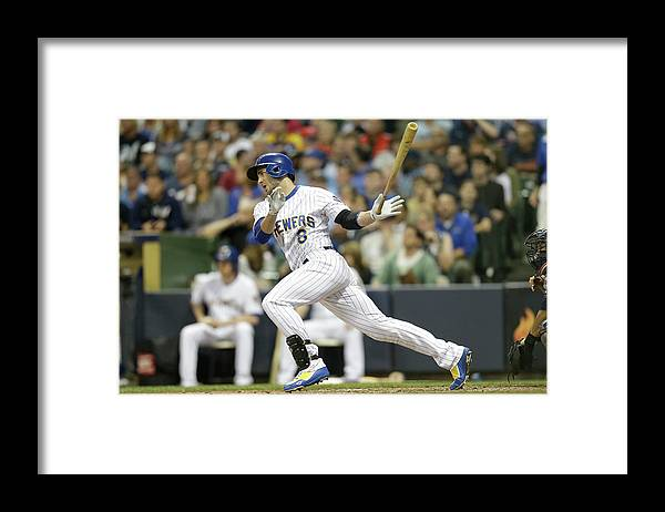 People Framed Print featuring the photograph Gerardo Parra and Carlos Gomez by Mike Mcginnis