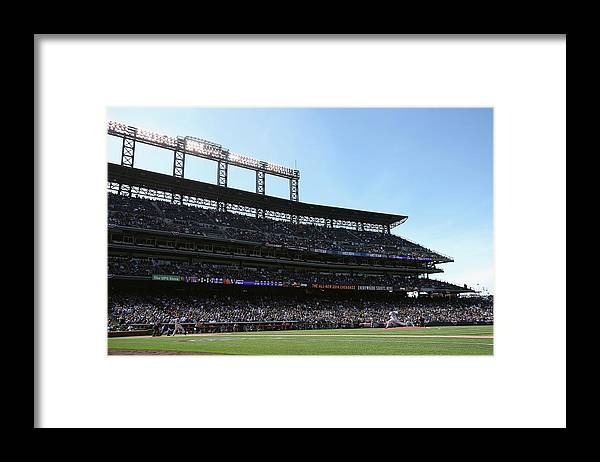 Baseball Pitcher Framed Print featuring the photograph Gerardo Parra and Juan Nicasio by Doug Pensinger