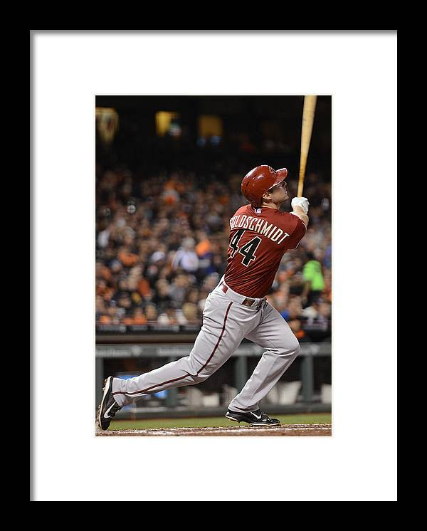 San Francisco Framed Print featuring the photograph Gerardo Parra and Paul Goldschmidt by Thearon W. Henderson