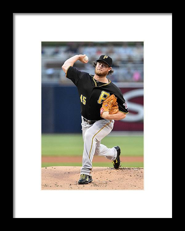 Gerrit Cole Framed Print featuring the photograph Gerrit Cole by Denis Poroy