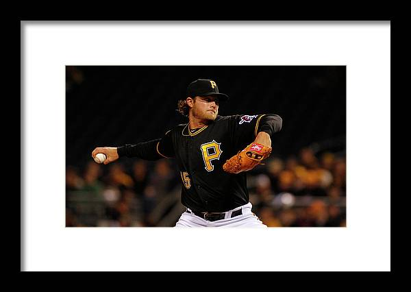 Gerrit Cole Framed Print featuring the photograph Gerrit Cole by Justin K. Aller