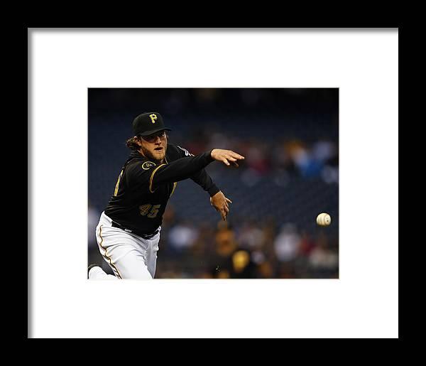 American League Baseball Framed Print featuring the photograph Gerrit Cole by Matt Sullivan