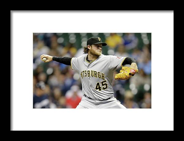 Gerrit Cole Framed Print featuring the photograph Gerrit Cole by Mike Mcginnis