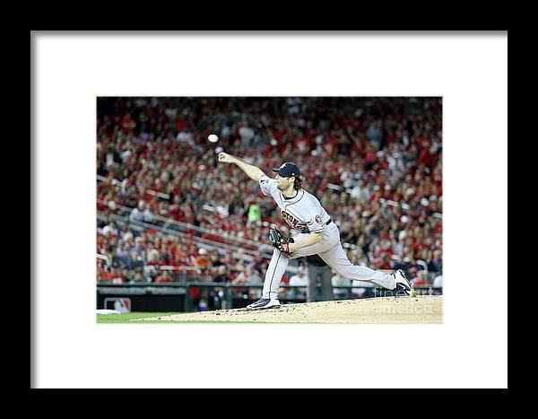 American League Baseball Framed Print featuring the photograph Gerrit Cole by Rob Carr