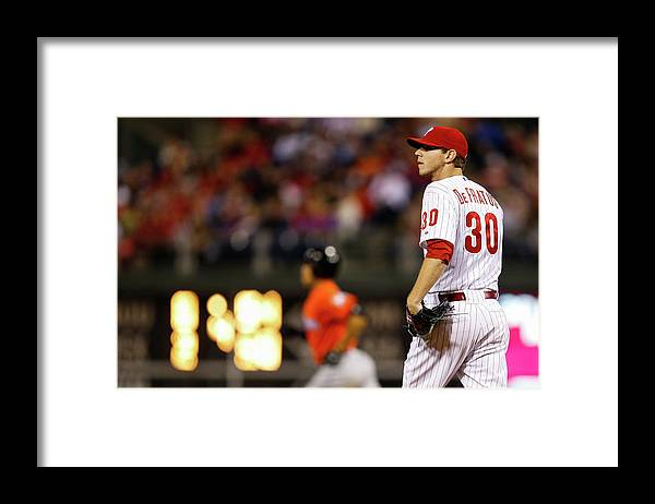 Defeat Framed Print featuring the photograph Giancarlo Stanton by Brian Garfinkel