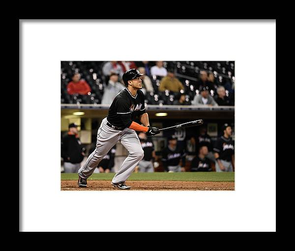 California Framed Print featuring the photograph Giancarlo Stanton by Denis Poroy