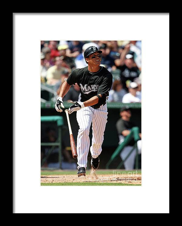 American League Baseball Framed Print featuring the photograph Giancarlo Stanton by Doug Benc