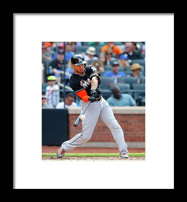 People Framed Print featuring the photograph Giancarlo Stanton by Jim Mcisaac