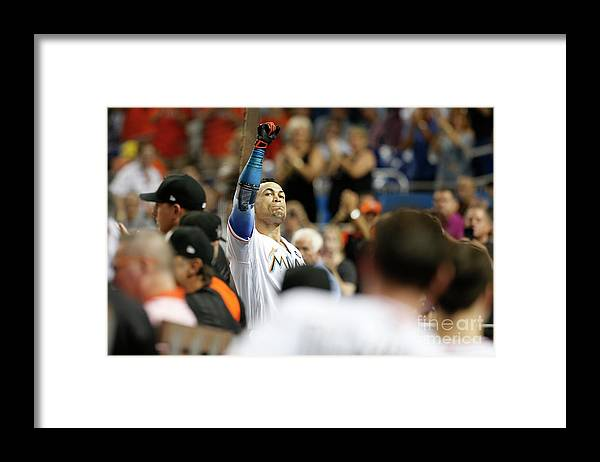 The End Framed Print featuring the photograph Giancarlo Stanton by Joe Skipper