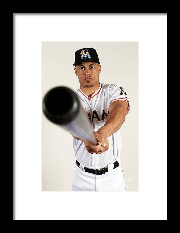 Media Day Framed Print featuring the photograph Giancarlo Stanton by Marc Serota