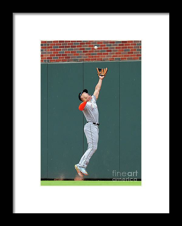 Atlanta Framed Print featuring the photograph Giancarlo Stanton by Scott Cunningham