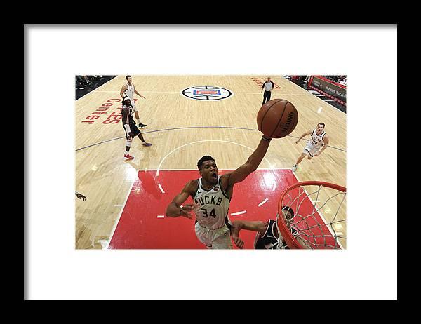 Nba Pro Basketball Framed Print featuring the photograph Giannis Antetokounmpo by Adam Pantozzi