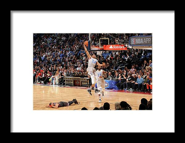 Event Framed Print featuring the photograph Giannis Antetokounmpo by Andrew D. Bernstein