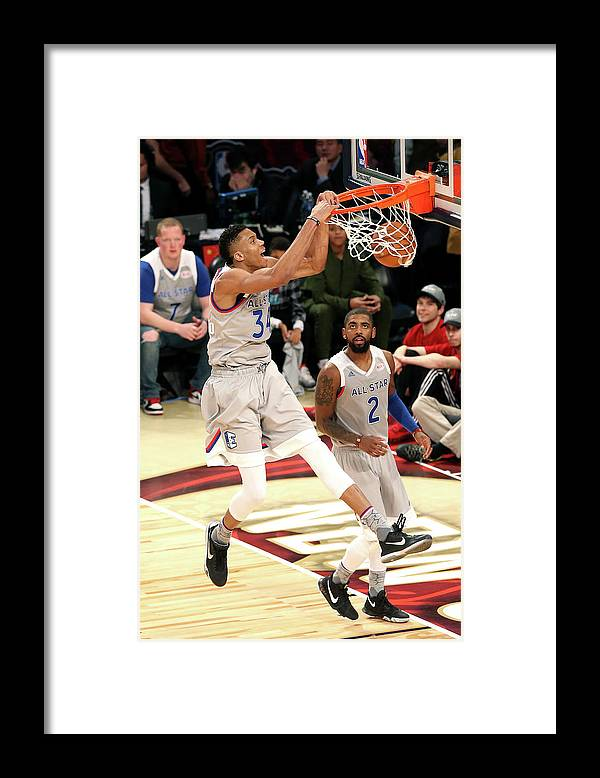 Event Framed Print featuring the photograph Giannis Antetokounmpo by Layne Murdoch
