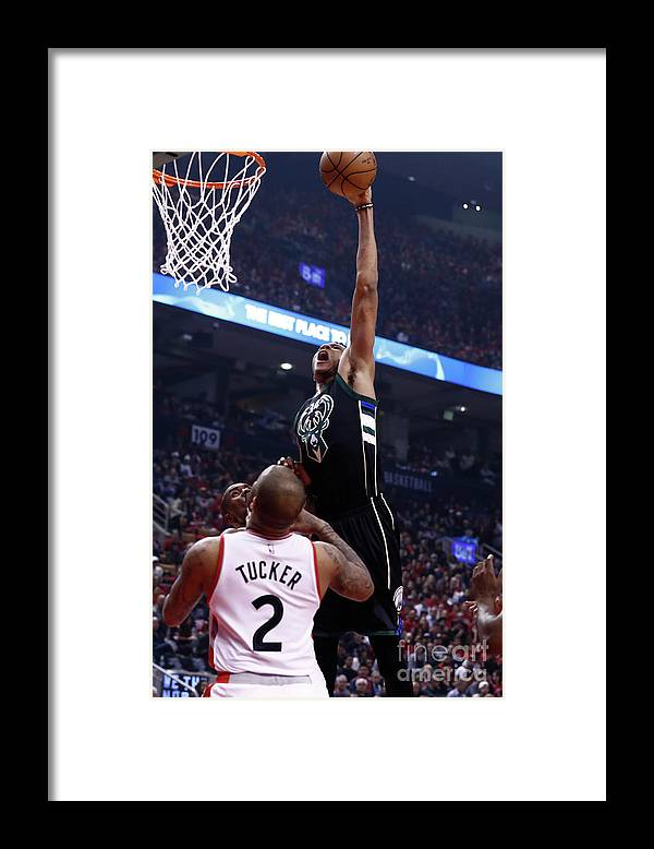Playoffs Framed Print featuring the photograph Giannis Antetokounmpo by Mark Blinch