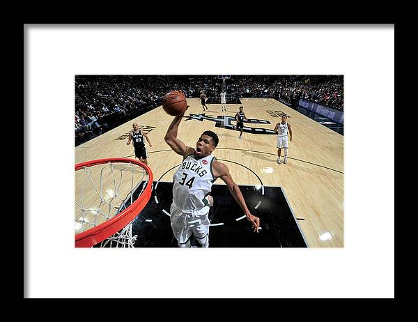 Nba Pro Basketball Framed Print featuring the photograph Giannis Antetokounmpo by Mark Sobhani