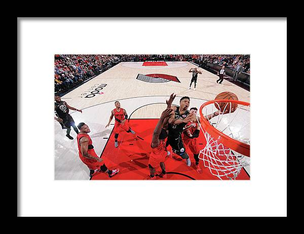 Nba Pro Basketball Framed Print featuring the photograph Giannis Antetokounmpo by Sam Forencich