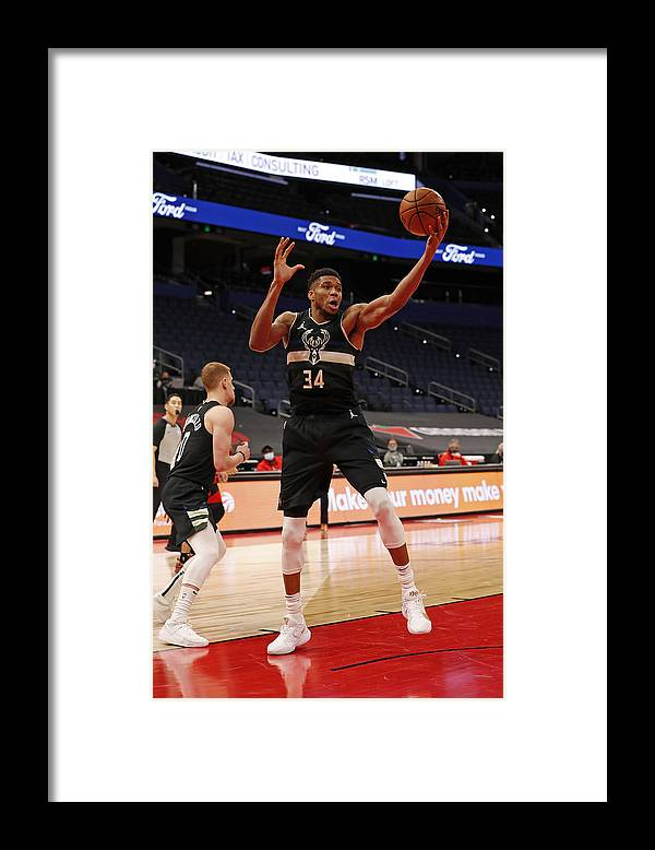 Nba Pro Basketball Framed Print featuring the photograph Giannis Antetokounmpo by Scott Audette