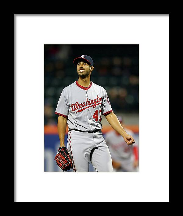 Residential District Framed Print featuring the photograph Gio Gonzalez by Elsa