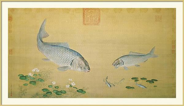 Giuseppe Castiglione - Aquatic Plants and Fish by Les Classics