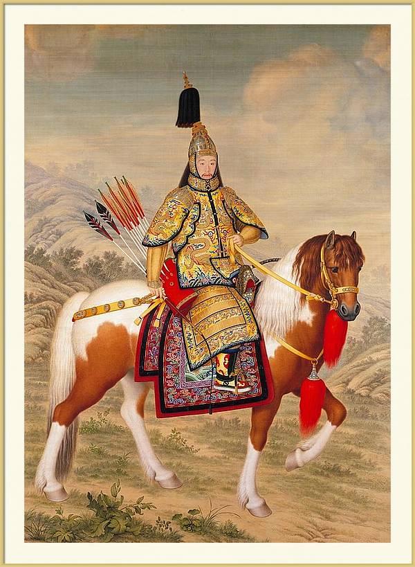 Giuseppe Castiglione - The Qianlong Emperor in Ceremonial Armor on Horseback by Les Classics
