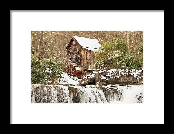 Mill Framed Print featuring the photograph Glade Creek Grist Mill by Kathy Jennings
