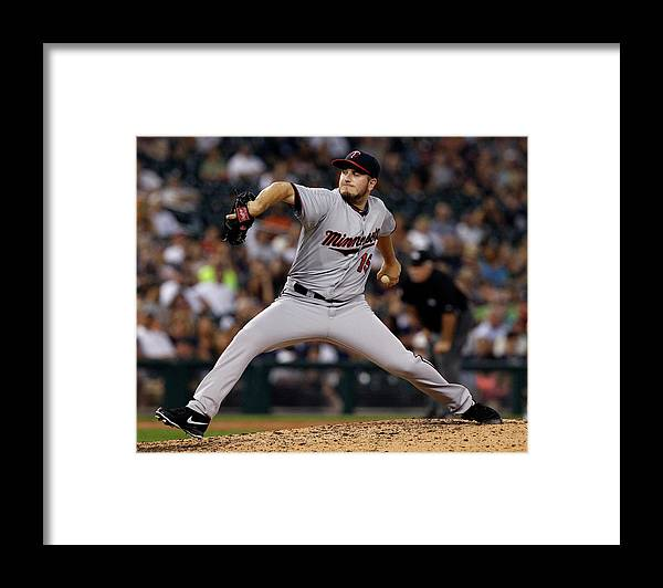 Ninth Inning Framed Print featuring the photograph Glen Perkins by Duane Burleson