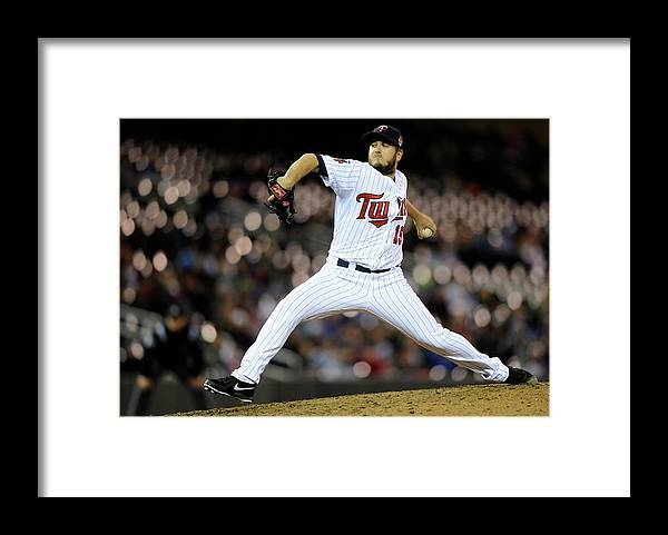 Ninth Inning Framed Print featuring the photograph Glen Perkins by Hannah Foslien