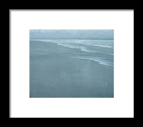 Framed Print featuring the painting Glint by Mary Jo Van Dell