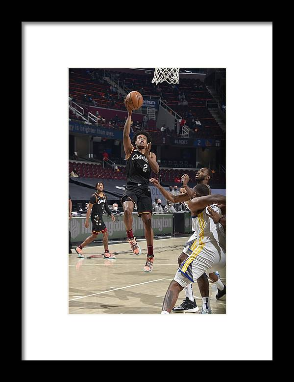 Nba Pro Basketball Framed Print featuring the photograph Golden State Warriors v Cleveland Cavaliers by David Liam Kyle