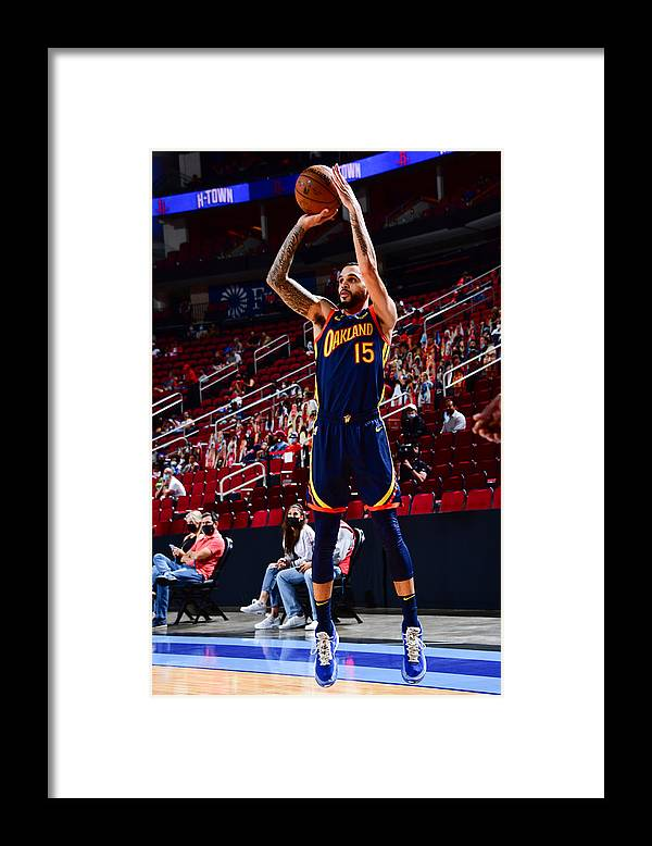Mychal Mulder Framed Print featuring the photograph Golden State Warriors v Houston Rockets by Cato Cataldo