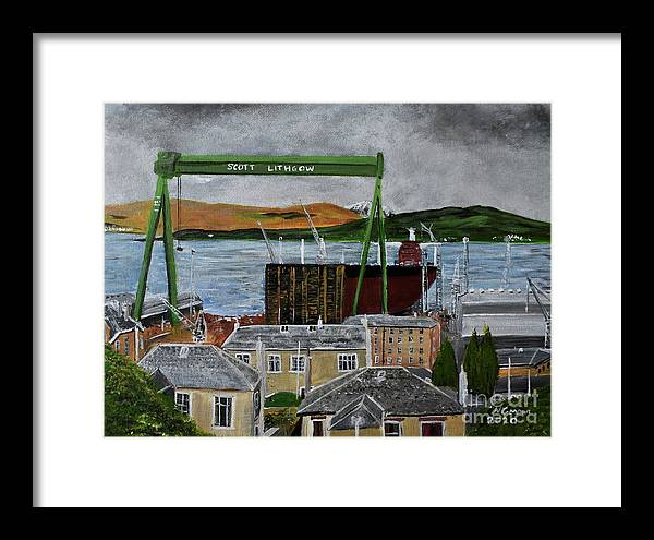 Goliath with Tanker, Port Glasgow  by Neal Crossan