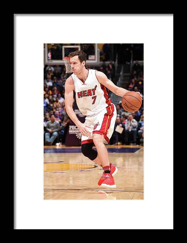 Nba Pro Basketball Framed Print featuring the photograph Goran Dragic by Andrew D. Bernstein