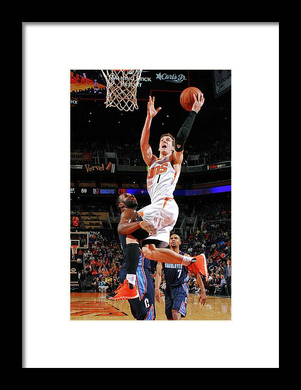 Nba Pro Basketball Framed Print featuring the photograph Goran Dragic by Barry Gossage
