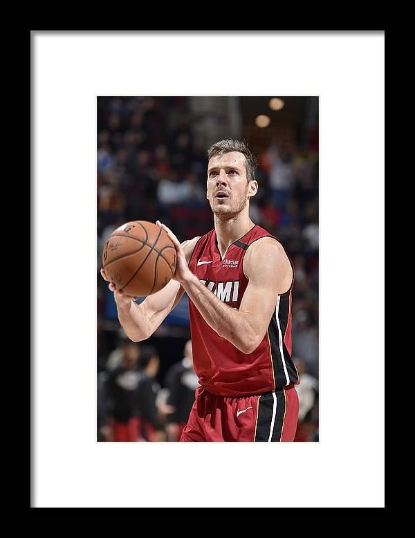 Nba Pro Basketball Framed Print featuring the photograph Goran Dragic by David Liam Kyle