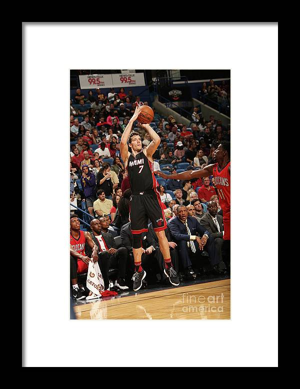 Smoothie King Center Framed Print featuring the photograph Goran Dragic by Layne Murdoch
