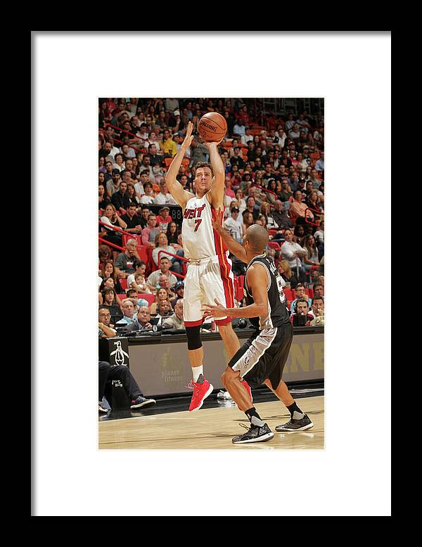 Nba Pro Basketball Framed Print featuring the photograph Goran Dragic by Oscar Baldizon