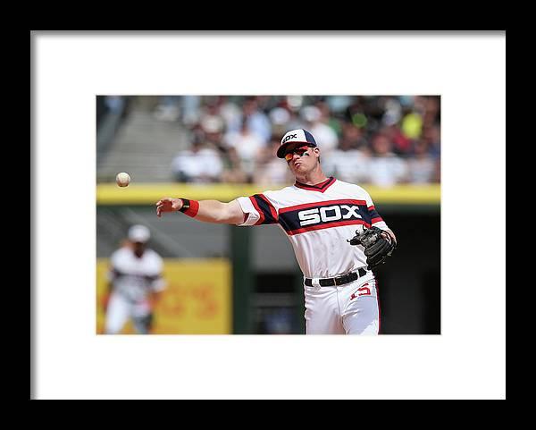 American League Baseball Framed Print featuring the photograph Gordon Beckham by Jonathan Daniel