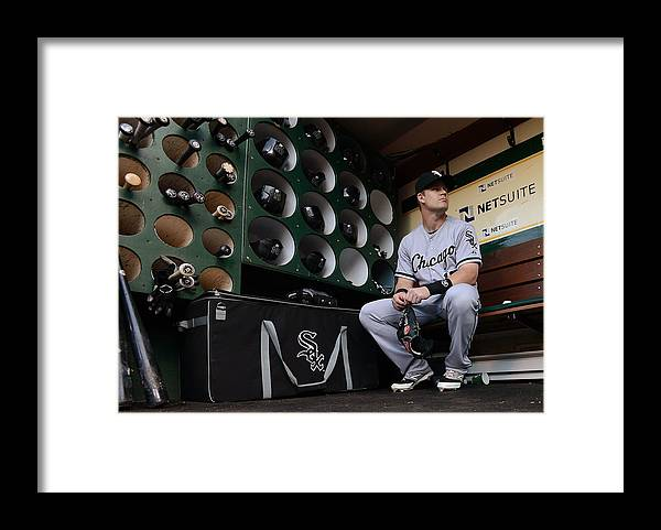 Headwear Framed Print featuring the photograph Gordon Beckham by Thearon W. Henderson