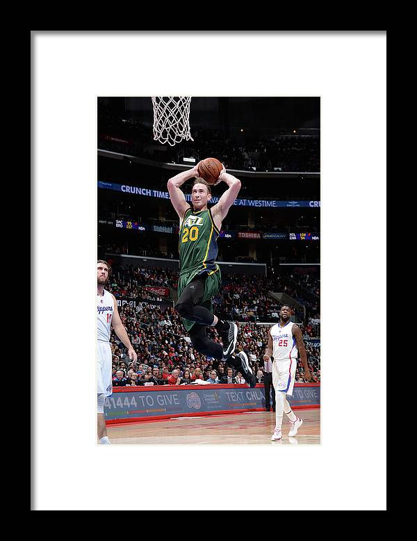 Nba Pro Basketball Framed Print featuring the photograph Gordon Hayward by Andrew D. Bernstein