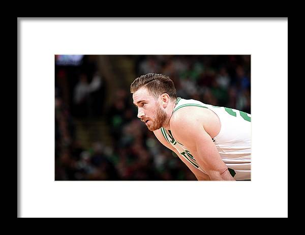 Nba Pro Basketball Framed Print featuring the photograph Gordon Hayward by Brian Babineau