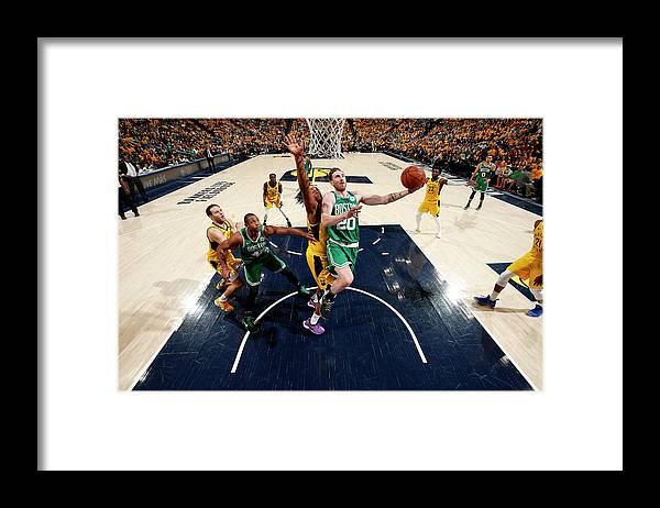 Playoffs Framed Print featuring the photograph Gordon Hayward by Jeff Haynes