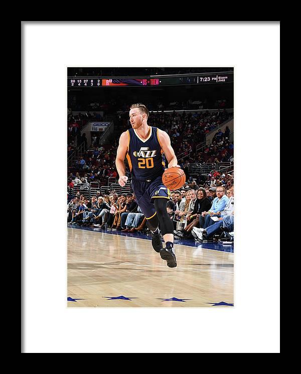 Nba Pro Basketball Framed Print featuring the photograph Gordon Hayward by Jesse D. Garrabrant