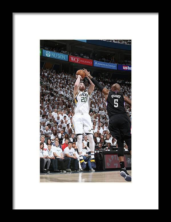 Playoffs Framed Print featuring the photograph Gordon Hayward by Melissa Majchrzak