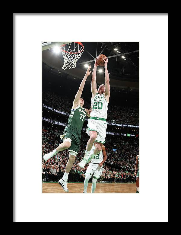 Playoffs Framed Print featuring the photograph Gordon Hayward by Nathaniel S. Butler
