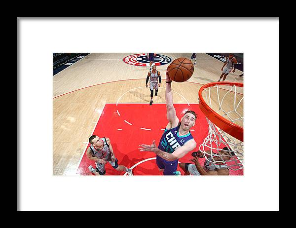 Nba Pro Basketball Framed Print featuring the photograph Gordon Hayward by Stephen Gosling